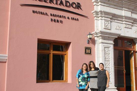 Hotel Libertador Arequipa : En la puerta de entrada al Hotel