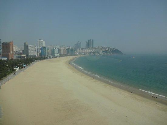 The Westin Chosun Busan: 部屋からのビーチサイドビュー