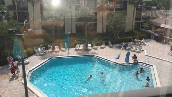 Rosen Inn: pool view from our room