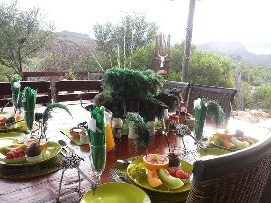 Zwartberg View Mountain Lodge : Ontbijttafel van creatieve  kok