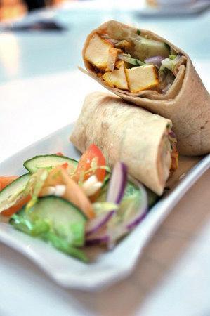 Itihaas Restaurant: Chicken/Paneer Wrap, Itihaas Brasserie, Birmingham Selfridges
