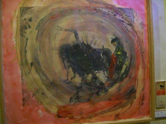 Plaza de Toros: painting in museum