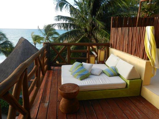 Mahekal Beach Resort: vista parcial da varanda do quarto