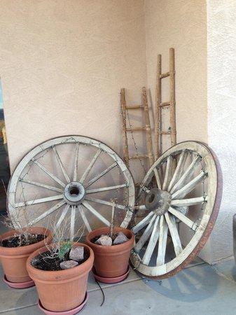 Hampton Inn Kayenta: By entry door.   Nice touch