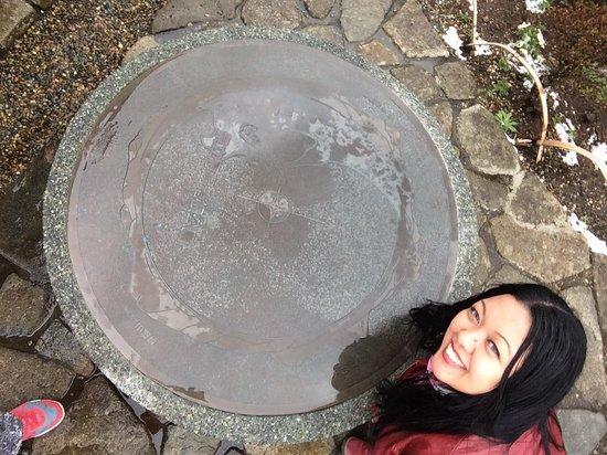 Onshi Hakone Park : Uma fotinha do mapa de Hakone