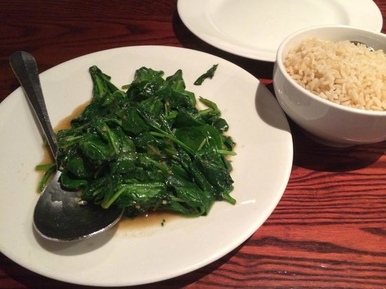 Lieu's Chinese Bistro : Garlic spinach