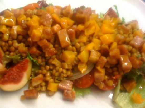 Can Nasi: Ensalada de lentejas con calabaza y veicon