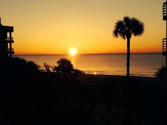 Villamare Villas Resort at Palmetto Dunes: Sunrise view from bedroom