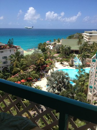 Sonesta Maho Beach Resort, Casino & Spa: Our View from the Balcony