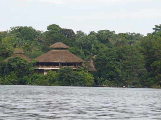 La Selva Amazon Ecolodge: Lodge from the lagoon