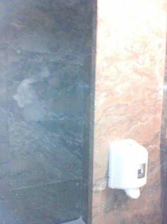 Vasco da Gama Hotel: side panels at each end of the bath making it very dark