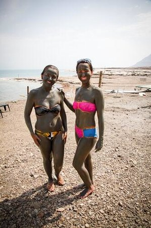 Dead Sea View: Mud fun