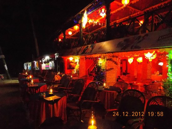 Varkala Beach: Shacks on Varkala