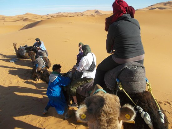 Ksar Bicha : Kamelausflug in die Wüste