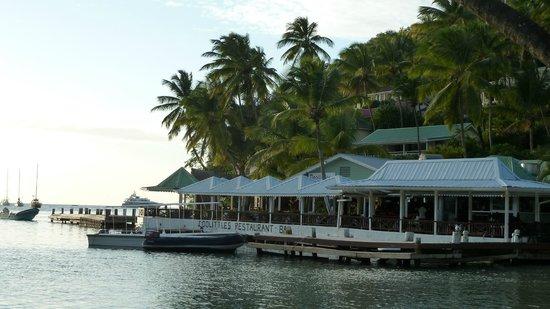 Marigot Beach Club and Dive Resort : Doolittle's Restaurant