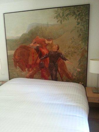 Hotellerie Le Chateau Fort : Le lit deux personne