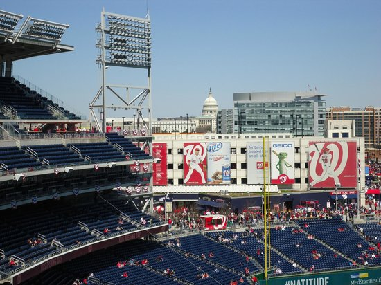 Nationals Park : The Capitol from inside the stadium
