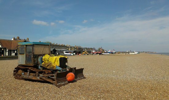 Aldeburgh Fish and Chips: Aldeburgh in the April sun.