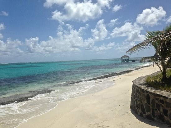 Petit St. Vincent Resort: One of the very private beaches