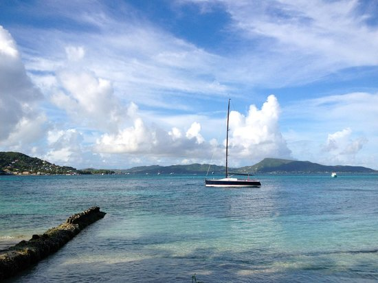 Petit St. Vincent Resort : Looking out towards Union Island