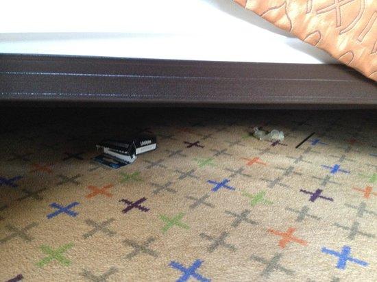Hilton Times Square: Profilattico sotto il letto