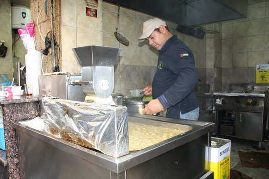 Hashem : Chef making fresh falafels!