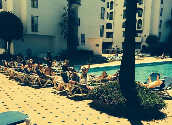 PYR Marbella Hotel: Us at the pool hen party