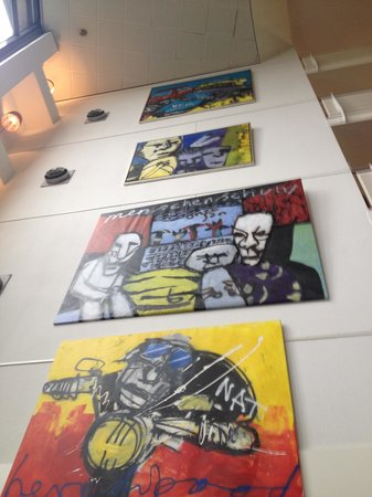WestCord Art Hotel Amsterdam : Quadri nella hall