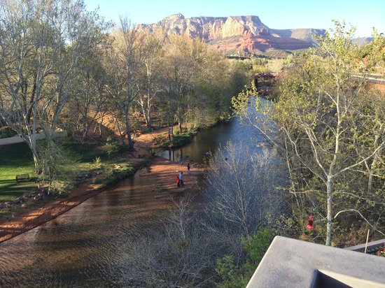 The Inn Above Oak Creek : View from our room onto the creek