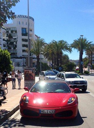 Outside pyr Marbella hotel