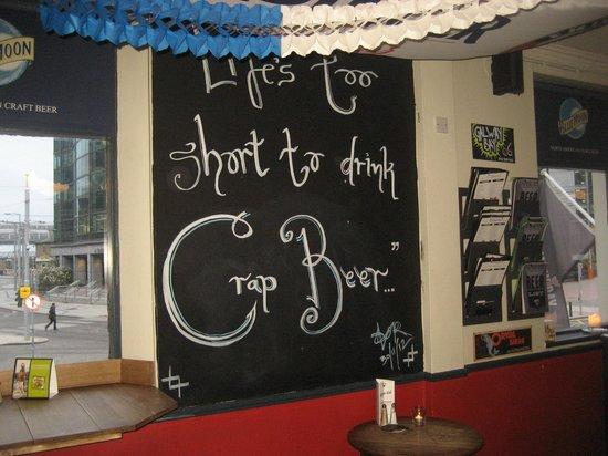 The Brew Dock: Blackboard
