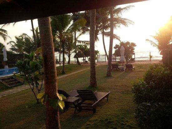 Sea Rock Villa : herrlicher Blick auf den Sonnenuntergang