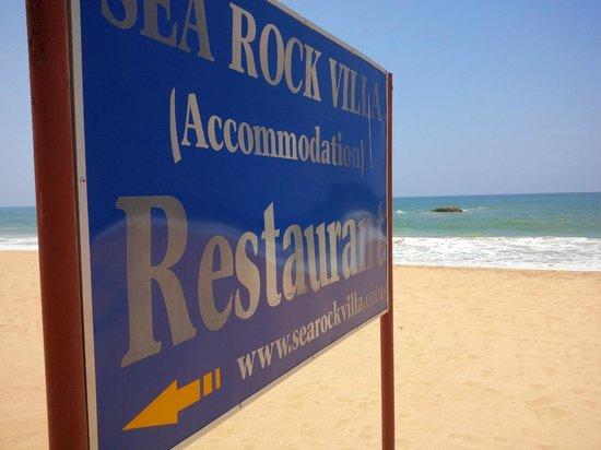Sea Rock Villa : der Grund für den Namen :)