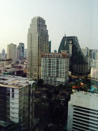 Rembrandt Hotel Bangkok: View from our 19th floor hotel bedroom window