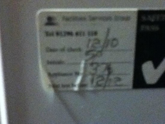 Britannia Edinburgh Hotel: out of date check on heater