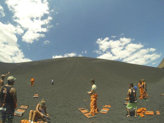 Cerro Negro Volcano: Depois da descida, essa é a visão