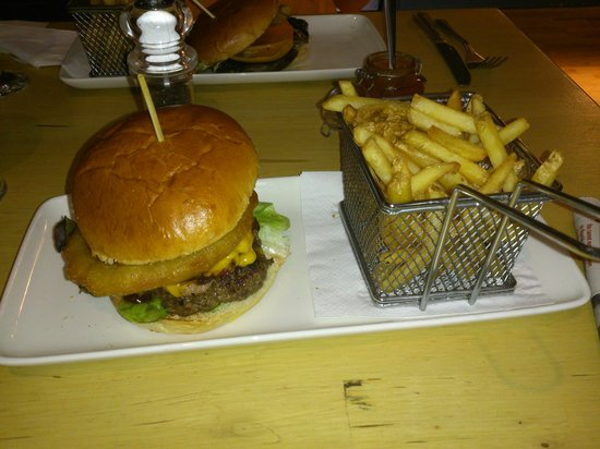 56 North: burger & surprisingly large chips