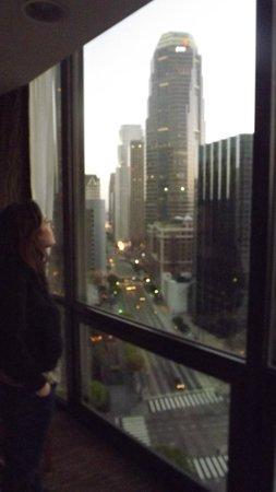The Westin Bonaventure Hotel & Suites: Downtown, vista dalla stanza.