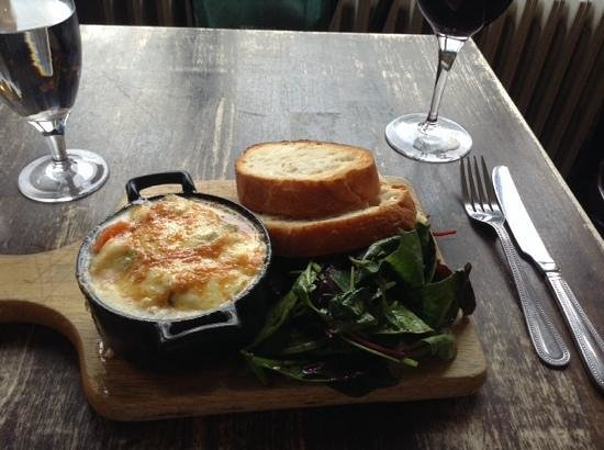 The Winding Stair : smoked cod covered in bubbly gooey delicious cheese