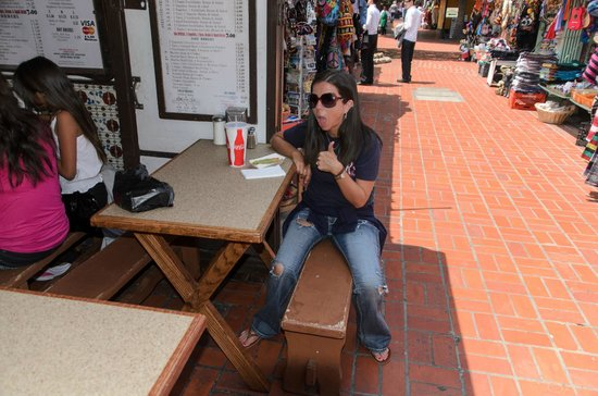 Olvera Street : Thumbs up for awesome taquitos!