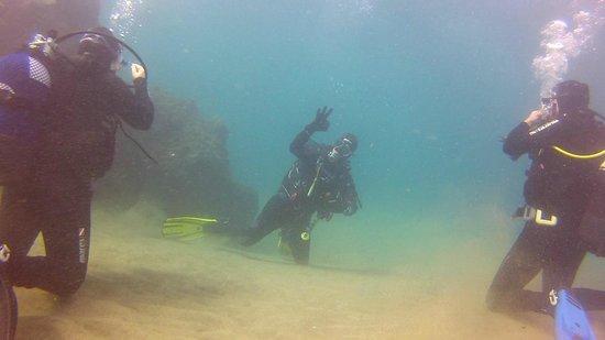 Atlantis Diving Lanzarote: Mauro at Playa Chica