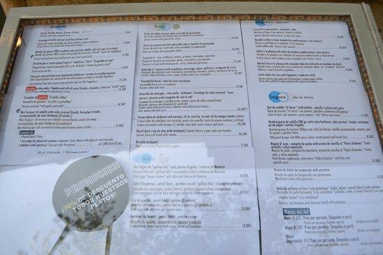 Bench restaurant: La carta