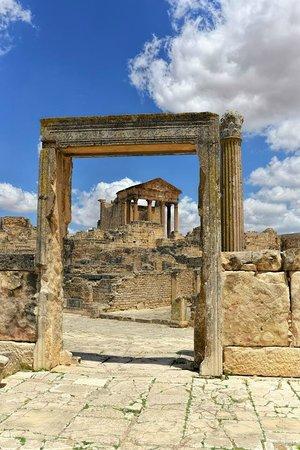 Dougga: Temple of Mercury from Gymnasium