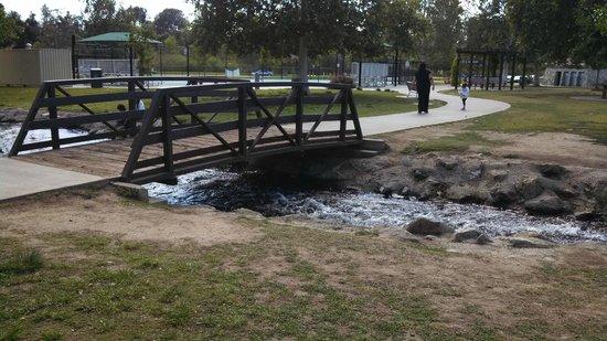 Lake Balboa Park : Bridge over one of the many streams