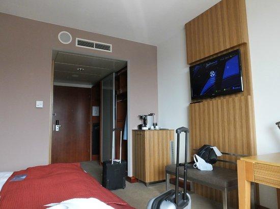 Radisson Blu Hotel Krakow: looking back from window into room