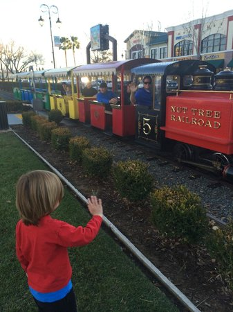 Fenton's Creamery: The train at the Vacaville restaurant...my grandson Loves IT