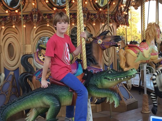 Fenton's Creamery: They love the merry-go-around at the Vacaville Fentons