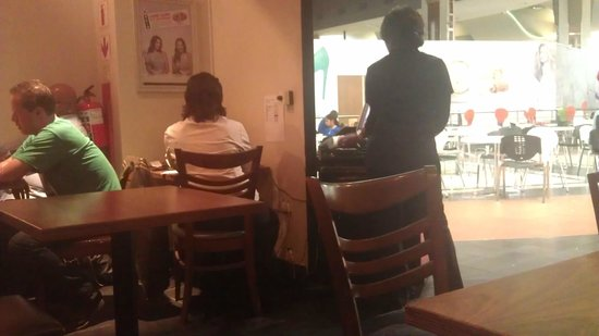 Simply Asia: Manageress doing her admin work while customers are right next to her