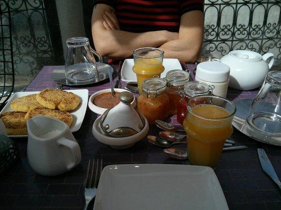 Riad Houdou : Petit déjeuner