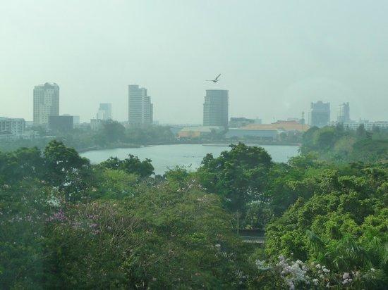 Sukhumvit 12 Bangkok Hotel & Suites : Vue sur le Benjakiti Park depuis la chambre